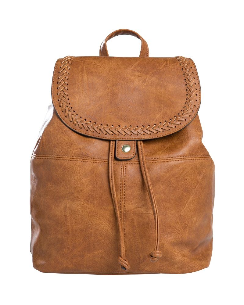 Pieces Laukut Netistä : Pieces sadie backpack cognac naisten laukut