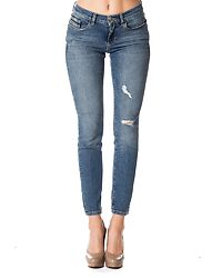 Skinny Ankle Jeans Salt & Pepper Destructed