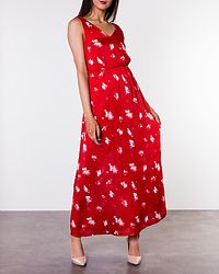 Giza Maxi Dress Flame Scarlet/Sweet Flower