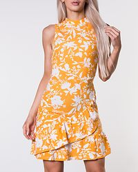 Minelle Dress Yellow/White/Patterned