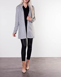 Katrine Brushed Jacket Light Grey Melange