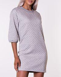 Napa 3/4 Quilted Dress Light Grey Melange