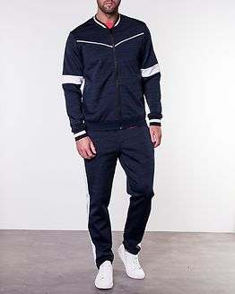 Nolan Sweat Bomber Blue Nights/Melange