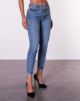 Cara Slim Mid Waist Jeans Light Blue Denim