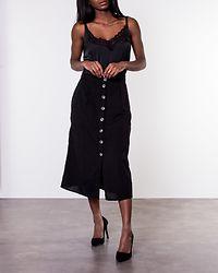 Line Long Skirt Black