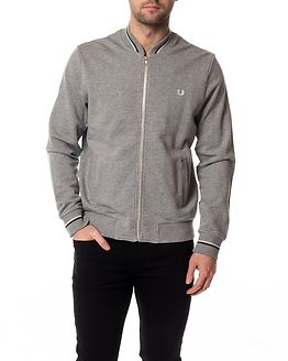 Bomber Neck Sweat Steel Marl