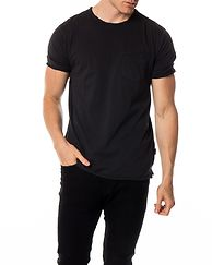 Albert Washed O-Neck Pocket Tee Phantom