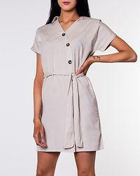 Line Buttons Dress Oatmeal