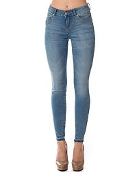Skinny Jamie Ankle Jeans Light Blue Denim