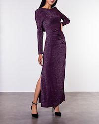 Libbo Maxi Dress Winetasting/Silver