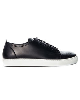 Lace Sneaker Combo Leather Black