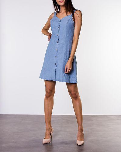 598afa4c7ce83f Samantha Chamb Short Button Dress Light Blue Denim