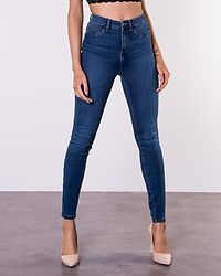 Callie High Waist Skinny Jeans Medium Blue Denim