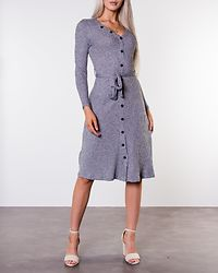 Ava Rib Dress Grey Melange