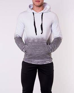 Biker Hoodie White-Anthracite Sprayed