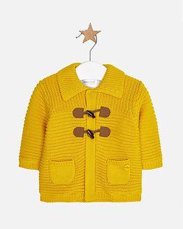 Knit Cardigan Mustard