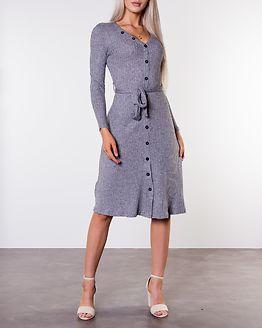 Ava Rib Dress Grey Melange