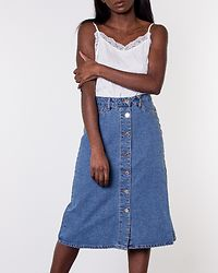 Sunny Midi Denim Skirt Medium Blue Denim