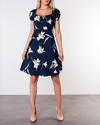 Tessan Dress Dark Blue/Patterned