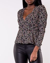Zille Naya Fix Wrap Top Black/Refresh Ditsy