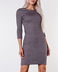 Vigga Houndstooth Dress Cloud Dancer/Mini Hound