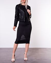 Kerri Ultra Short Coated Jacket Black