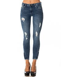 Kimmy Ankle Zip Jeans Medium Blue Denim
