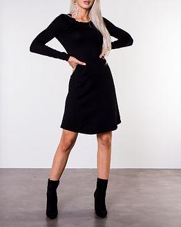Jasmin O-Neck Knit Dress Black