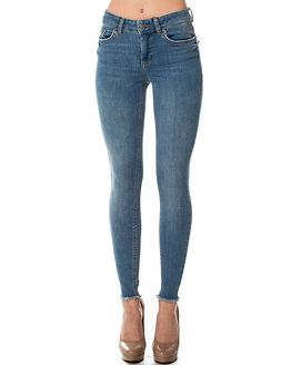 Five Delly Skinny Cropped Jeans Light Blue Denim