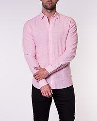Caiden Solid Linen Shirt Geranium Pink