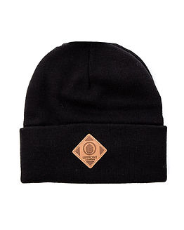 OFFICIAL Upfront Fold Beanie Black