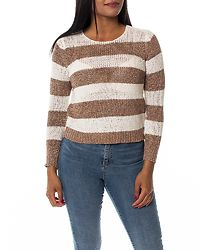 Gabbi Stripe Pullover Cloud Dancer/Misty Rose