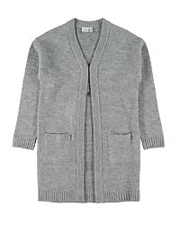 Fia Long Knit Cardigan Grey Melange/Glitter