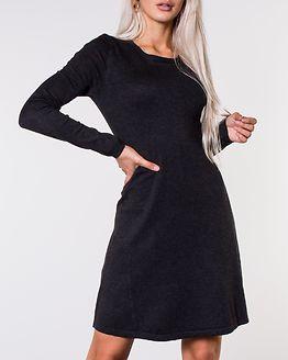 Jasmin O-Neck Knit Dress Dark Grey Melange