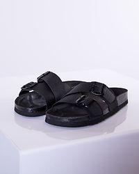 Milla Leather Sandal Black/Black