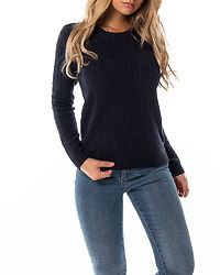Chassa Cable Knit Top Total Eclipse