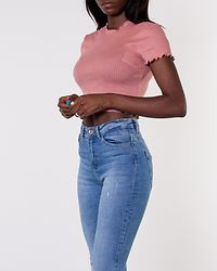 Irma Cropped Top Ash Rose