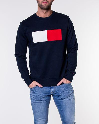 Flag Chest Logo Sweatshirt Sky Captain. S M L XL. Tommy Hilfiger 11b89e1569