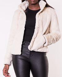 Vida Faux Fur Jacket Pumice Stone