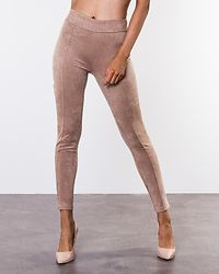 Ida Suede Look Leggings Beige