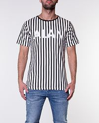 Alan Tee Black/White Stripe
