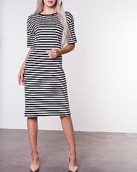 Mayden Dress Black/Bright White