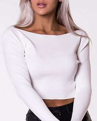 Ribbed Crop Top Off White