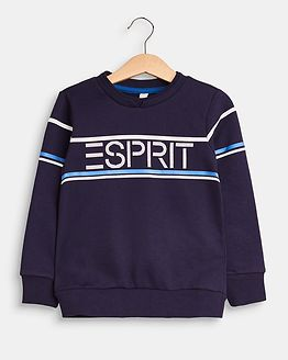 Esprit Sweatshirt Stripe Mid Blue