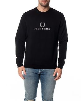 Monochrome Tennis Sweatshirt Black