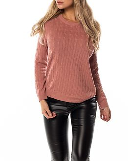 Chassa Cable Knit Top Ash Rose