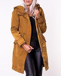 Teresa Long Parka Coat Golden Brown/Nature Teddy