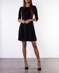 Classy 3/4 Sleeve Waist Dress Black