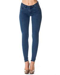 Rain Skinny Jeans Medium Blue Denim