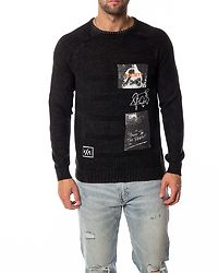Pixam Structure Printed Knit Black